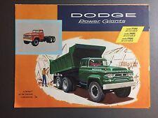 1958 Dodge Power Giants Model T700 - T900 Showroom Advertising Sales Folder RARE
