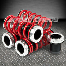 90-97 MAZDA MIATA MX5/MX-5 ROADSTER ADJUSTABLE SCALED BLACK COILOVER RED SPRINGS