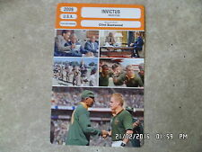 CARTE FICHE CINEMA 2009 INVICTUS Morgan Freeman Matt Damon Tony Kroroge