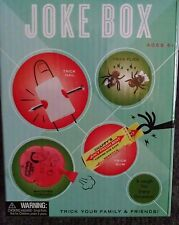 JOKE BOX GAG GIFTS Pranks Trick Nail, Whoopee Cushion, Fake Flies &Trick Gum New