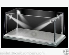LIGHT LED 1:18 DISPLAY SHOWCASE SILVER GREAT QUALITY STACKABLE LIGHTS FANTASTIC