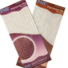 PME BRICK & BARK IMPRESSION MATS for Cake Decoration, Authorised Stockist