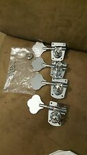 FENDER 4 set  Chrome bass tuners free usa shipping complete & string tree clean