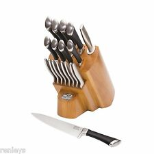 Chicago Cutlery Fusion KNIFE BLOCK SET KITCHEN KNIVES Stainless Steel Wood Chef