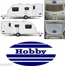 HOBBY CARAVAN 4 PIECE KIT DECALS GRAPHICS STICKERS CHOICE OF COLOURS & SIZES