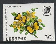 Lesotho (578) 1984 Butterflies 50s IMPERF PROOF with BACKGROUND OMITTED u/m