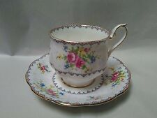 """Royal Albert England """"Petit Point"""" Pattern Cup and Saucer~ Absolutely Beautiful!"""