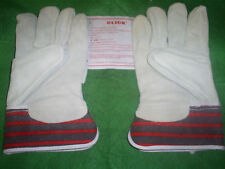 CANADIAN  RIGGER HEAVY DUTY CHROME LEATHER PALM WORK GLOVES LARGE SIZE 10