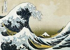 GREAT WAVE OF KANAGAWA GIANT POSTER (140x100cm) NEW OCEAN SURF