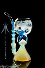 SLIPSTREAM® ABSINTHE GLASS FOUNTAIN PIPE *No Spoon Needed*