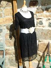 superbe robe féminine noire dentelle grande taille 50/52 chic tendance