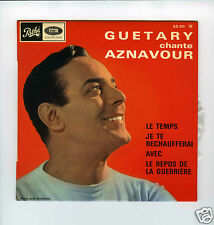 45 RPM EP GEORGES GUETARY CHANTE CHARLES AZNAVOUR