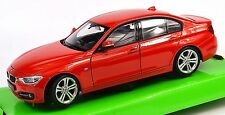 BMW F10 335i RED WELLY 24039 1:24 NEW DIECAST MODEL OPENING BONNET DOORS
