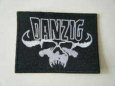 DANZIG PATCH Embroidered Iron On Skull Samhain Misfits Band Badge Logo NEW