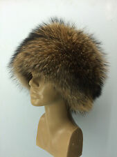 Raccoon All Fur Full Hat. TOP Quality Real Genuine Fur.Natural Colors. New model