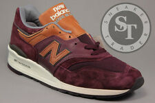 NEW BALANCE CLASSICS M997DSLR MADE IN USA BURGUNDY BROWN GREY DS SIZE: 12