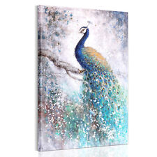 Wall Art Picture On Canvas Peacock Print Poster Painting Without Frame