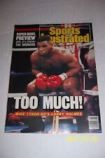 1988 Sports Illustrated MIKE TYSON vs LARRY HOLMES No Label HEAVYWEIGHT CHAMPION