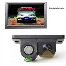 2 in 1 Car SUV Reverse Parking Rearview Radar Auto Rear View Backup Camera DC12V