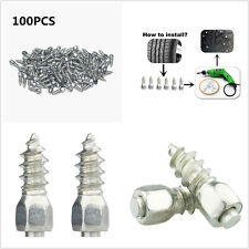 100pcs 9mm Car SUV Truck Wheel Tyre Screw Snow Chains Studs Spikes Carbide Tips