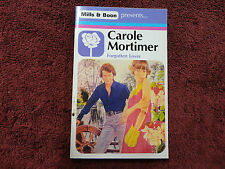 FORGOTTEN LOVER  BY  CAROLE MORTIMER ( MILLS & BOON - VINTAGE )