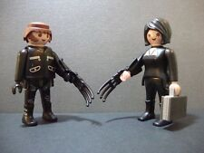 PLAYMOBIL WOLVERINE LOGAN MUTANT LADY DEATHSTRIKE X-MEN MARVEL SUPER HEROES RARE