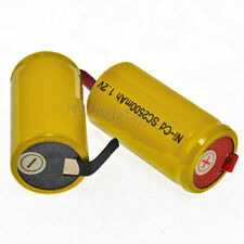 15 Sub C SubC Solder Tab NiCd 1.2v 2500mAh Rechargeable Battery Yellow