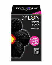 NEW 350g VELVET BLACK & ADDED SALT DYLON COLOUR FABRIC CLOTHES MACHINE WASH DYE