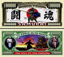 Les SAMOURAÏ - BILLET MILLION DOLLAR US ! Collection Arts martiaux Japon Katana