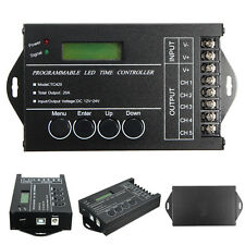 5 Channels DC12V-24V 20A Programmable TC420 RGB LED Time Dimmer Controller+CD