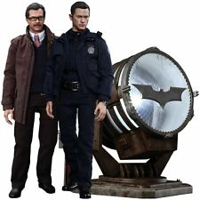 Japan Figure Hot Toys The Dark Knight Rises John Blake Jim Gordon W/Bat-Signal