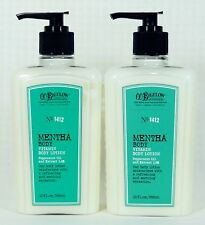 2 Bath & Body Works CO Bigelow MENTHA Vitamin Body Lotion PEPPERMINT OIL  2%