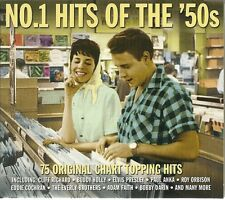 NO.1 HITS OF THE '50s - 3 CD BOX SET - CLIFF RICHARD, BUDDY HOLLY & MANY MORE