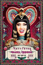 "KATY PERRY ""DARK HORSE - 02.20.14"" U.S. PROMO POSTER - Jewels On Her Teeth"