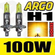 2 x H1 XENON YELLOW 448 100W BULBS MAIN DIPPED BEAM HEADLIGHT UPGRADE AMBER 12V