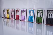 Puerta frontal de casa de muñecas, miniatura Hágalo usted mismo kit Interna Puerta De Madera, Juego Imaginativo