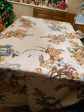 Vintage Bassetti-Italy LargeTablecloth--Flowers,Butterflys,Beetles,Birds 51 x 82
