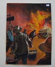 Originalzeichnung / Titelbild für Westernroman , Zeichner Bassols