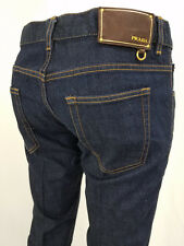 Authentic Prada Mens Five Pocket Tapered Fit Indigo Jeans Size 33x34