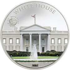 World of Wonders - White House $5 dollar Silver Coin - Palau 2016