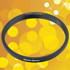 58mm to 55mm 58-55 mm Female to Male Step-Down Lens Filter Coupling Ring Adapter