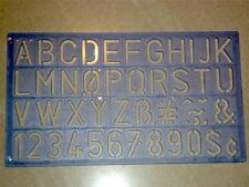 Helix Lettering Stencil 20mm standard style H92200 letters tracing kit A-Z 0-9