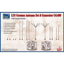 Riich Model RE30014 1/35 German Antenna Set & GG400 Generator (2 per confezione)