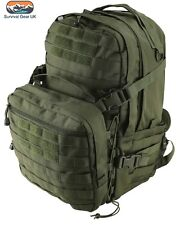 Green Recon Extra Assault Pack 50 Ltr Back Pack Tactical Kit Bag Airsoft Cadet