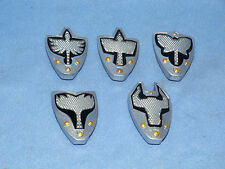 POWER RANGERS MYSTIC FORCE COMPLETE SET OF 5 LIGHT UP SHIELDS FOR RANGERS