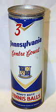 VINTAGE SEALED UNOPENED TIN CAN OF PENNSYLVANIA CENTRE COURT TENNIS BALLS