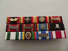 Ordenspange BW mit 12 Orden: Tapferkeit, Gefecht ISAF Fallschirmjäger