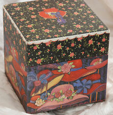 """Red Hat Theme Country Look Nesting Box / 7"""" Decoration or Storage / NEW"""