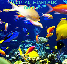 VIRTUAL FISH TANK DVD AQUARIUM MARINE FRESH WATER TROPICAL SOOTHING SAMEDAY POST
