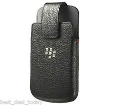 OEM Blackberry Leather Swivel Holster Pouch Case For Classic Q20 BB Q-20 Black